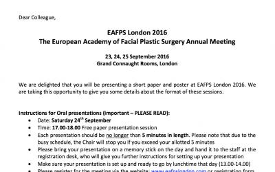 Vortrag bei der Jahreskonferenz der EAFPS 2016 in London