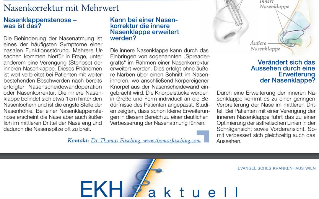Nasenkorrektur mit Mehrwert: Artikel im Newsletter EKH aktuell