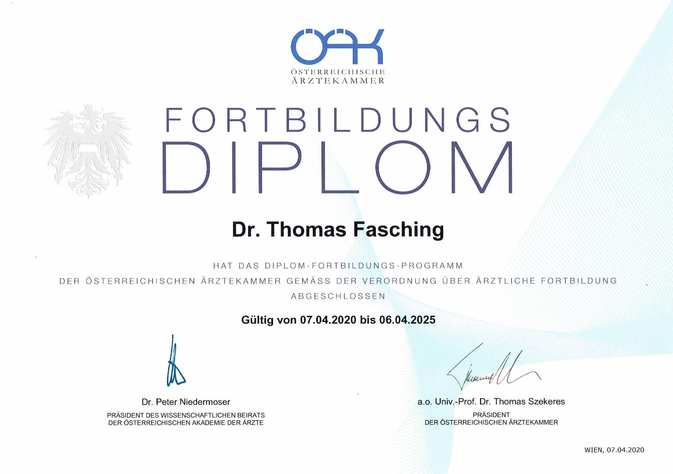 Mein ÖÄK-Diplom