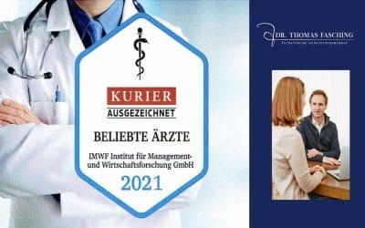 Beliebteste Ärzte Österreichs 2021 – Auszeichnung